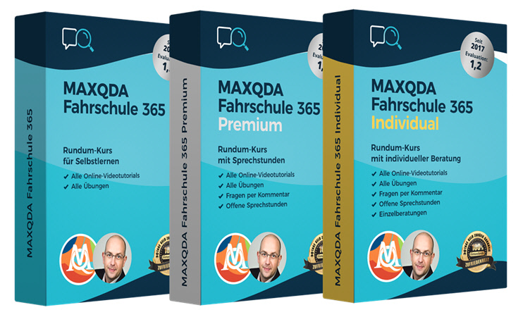 MAXQDA Fahrschule 365 - 3 Pakete