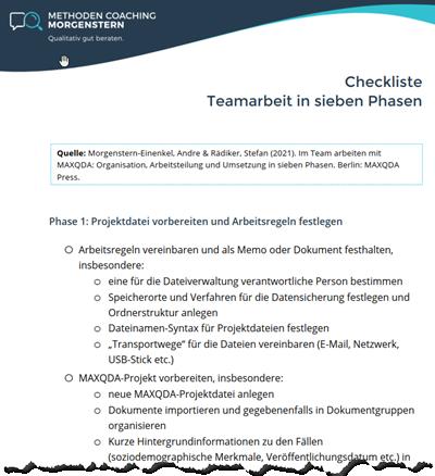Checkliste: Teamarbeit in sieben Phasen (Vorschau)